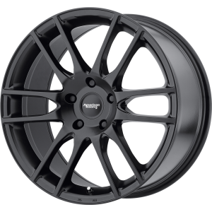 Staggered full Set - (2) 20x8.5 American Racing AR937 Pivot Satin Black (2) 20x9.5 American Racing AR937 Pivot Satin Black