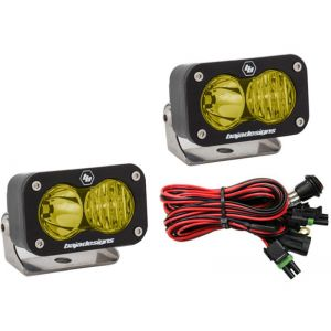 Baja Designs S2 Sport Led Lights Driving/Spot Beam Combo Pair Amber
