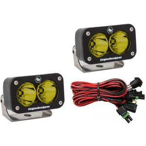 Baja Designs S2 Sport Led Lights Flood Beam Pair Amber