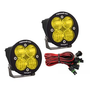 Baja Designs Squadron-R Sport Led Lights Driving/Spot Beam Combo Pair Amber