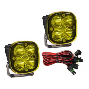 Baja Designs Squadron Sport Led Lights Flood Beam Pair Amber