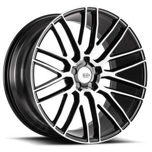 19x8.5 Savini Black Di Forza BM13 Gloss Black w/ Machined Face (Concave)