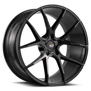 Staggered full Set - (2) 22x9 Savini Black Di Forza BM14 Gloss Black (Concave) (2) 22x10.5 Savini Black Di Forza BM14 Gloss Black (Concave)