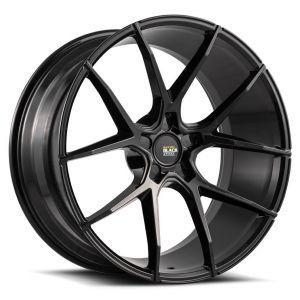 Staggered full Set - (2) 21x9 Savini Black Di Forza BM14 Gloss Black (Concave) (2) 21x10.5 Savini Black Di Forza BM14 Gloss Black (Concave)