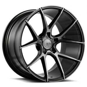 19x8.5 Savini Black Di Forza BM14 Gloss Black w/ Double Dark Tint Face (Concave)