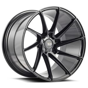 19x8.5 Savini Black Di Forza BM15 Gloss Black (True Directional)
