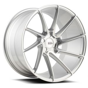 20x10 Savini Black Di Forza BM15 Brushed Silver (True Directional)