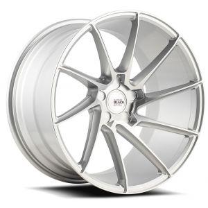 22x9 Savini Black Di Forza BM15 Brushed Silver (True Directional)