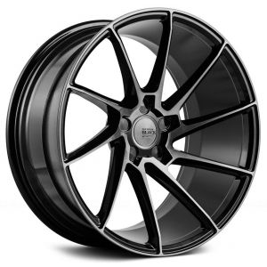 19x8.5 Savini Black Di Forza BM15 Gloss Black w/ Double Dark Tint Face (True Directional) (Concave)