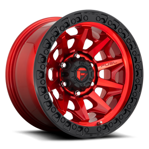 17x9 Fuel Off-Road Covert Candy Red w/ Black Ring D695