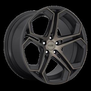 20x9 Foose Impala Matte Black Machined w/ Double Dark Tint F168