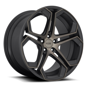 Staggered full Set - (2) 20x9 Foose Impala Matte Black Machined w/ Double Dark Tint F168 (2) 20x10.5 Foose Impala Matte Black Machined w/ Double Dark Tint F168