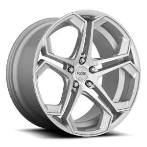 Staggered full Set - (2) 20x9 Foose Impala Silver Machined F170 (2) 20x10.5 Foose Impala Silver Machined F170