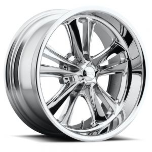 Staggered full Set - (2) 18x8 Foose Knuckle Chrome F097 (2) 18x9.5 Foose Knuckle Chrome F097