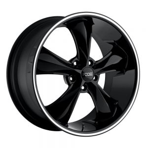 20x8.5 Foose Legend Gloss Black w/ Lip Groove F104