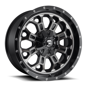 20X9 Fuel Off-Road Crush Gloss Black Double Dark Tint D561