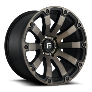 20x9 Fuel Off-Road Diesel Matte Black Machined w/ Double Dark Tint D636