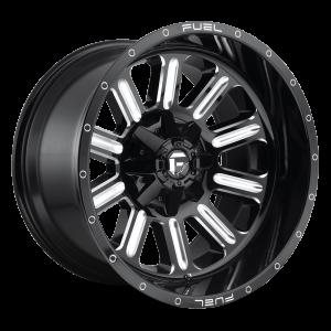 17x9 Fuel Off-Road Hardline Gloss Black Milled D620