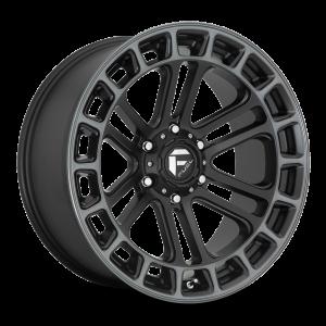 17x9 Fuel Off-Road Heater Matte Black Machined w/ Dark Tint D720