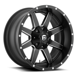 18x12 Fuel Off-Road Maverick Matte Black w/ Milled Accent D538