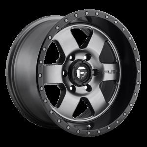 17x9 Fuel Off-Road Podium Anthracite w/ Black Lip D619