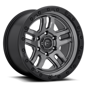 17x9 Fuel Off-Road Ammo Anthracite w/ Black Ring D701