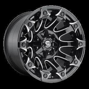 17x9 Fuel Off-Road Battle Axe Gloss Black Milled D578