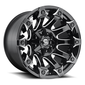 18x9 Fuel Off-Road Battle Axe Gloss Black Milled D578