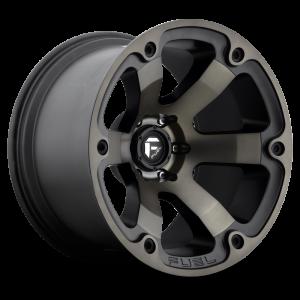 17x9 Fuel Off-Road Beast Black Machined w/ Tint D564