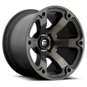 20x9 Fuel Off-Road Beast Black Machined w/ Tint D564