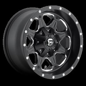 17x9 Fuel Off-Road Boost Matte Black w/ Milled Accents D534