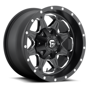 18x9 Fuel Off-Road Boost Matte Black w/ Milled Accents D534