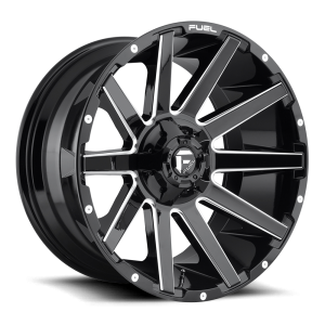 22x10 Fuel Off-Road Contra Gloss Black Milled D615