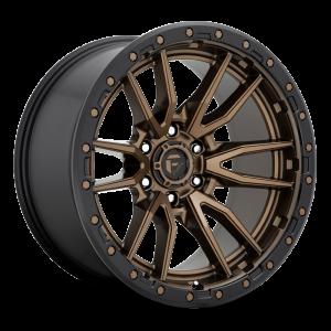 17x9 Fuel Off-Road Rebel Bronze w/ Black Lip D681