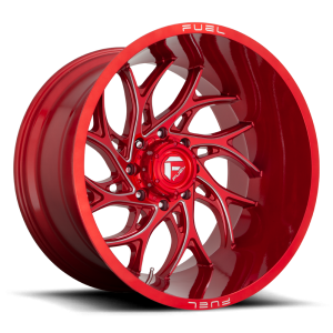 24x12 Fuel Off-Road Runner Candy Red Milled D742