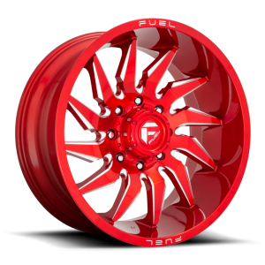 20x10 Fuel Off-Road Saber Candy Red Milled D745