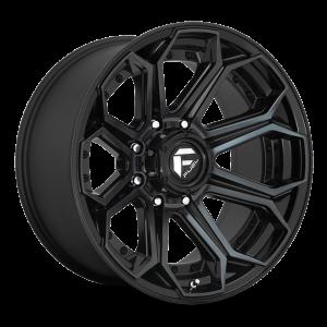 20x9 Fuel Off-Road Siege Gloss Black w/ Brushed Gloss Double Dark Tint D704