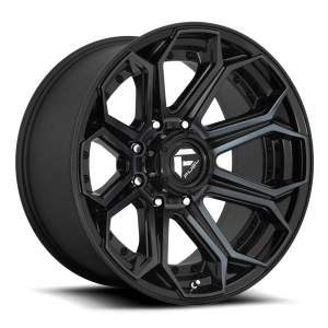 22x12 Fuel Off-Road Siege Gloss Black w/ Brushed Gloss Double Dark Tint D704
