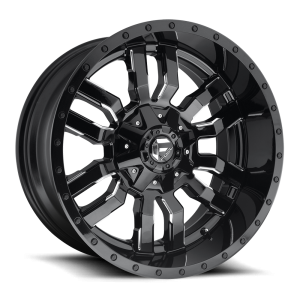 22X12 Fuel Off-Road Sledge Gloss Black Milled D595