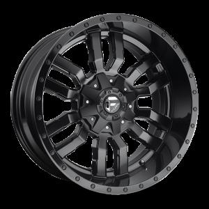22X9.5 Fuel Off-Road Sledge Matte Black w/ Gloss Black Lip D596