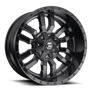 22X10 Fuel Off-Road Sledge Matte Black w/ Gloss Black Lip D596