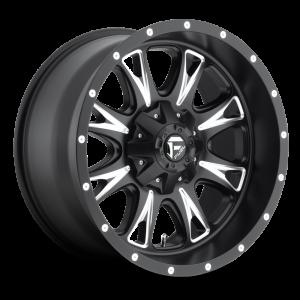 18x9 Fuel Off-Road Throttle Matte Black w/ Milled Accent D513