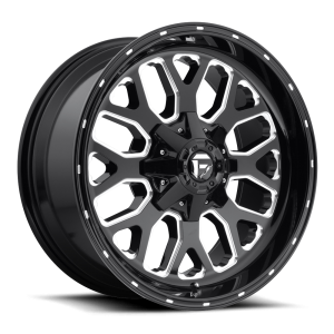20x9 Fuel Off-Road Titan Gloss Black Milled D588