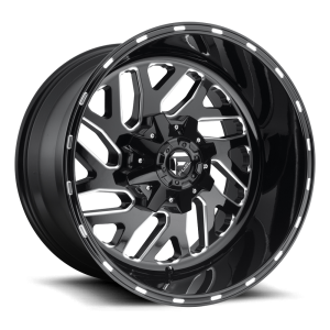 22X9.5 Fuel Off-Road Triton Black Milled D581
