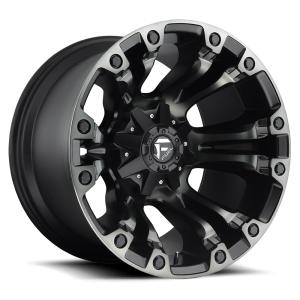 17x10 Fuel Off-Road Vapor Black Machined w/ Tint D569