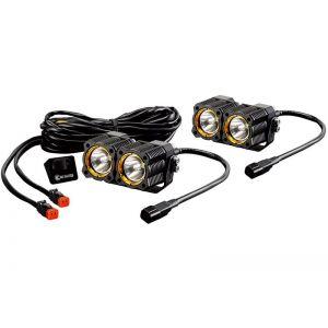 KC Hilites Dual Flex Led Lights Spot Beam Pair