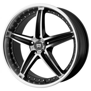 20x8.5 Motegi MR107 Gloss Black w/ Machined Face