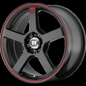 18x8 Motegi MR116 Black w/ Red Stripe