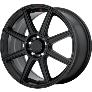 18x8 Motegi MR142 Satin Black w/ Red Stripe