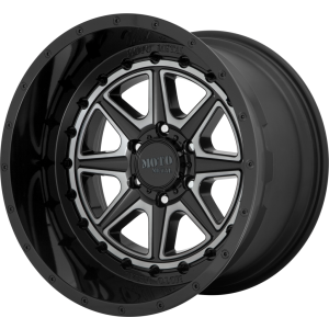20x10 Moto Metal MO801 Phantom Gloss Black w/ Gray Tint (* May Require Trimming)